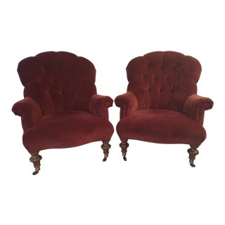 Ethan Allen Classic Silouette Redgrave Chairs - A Pair