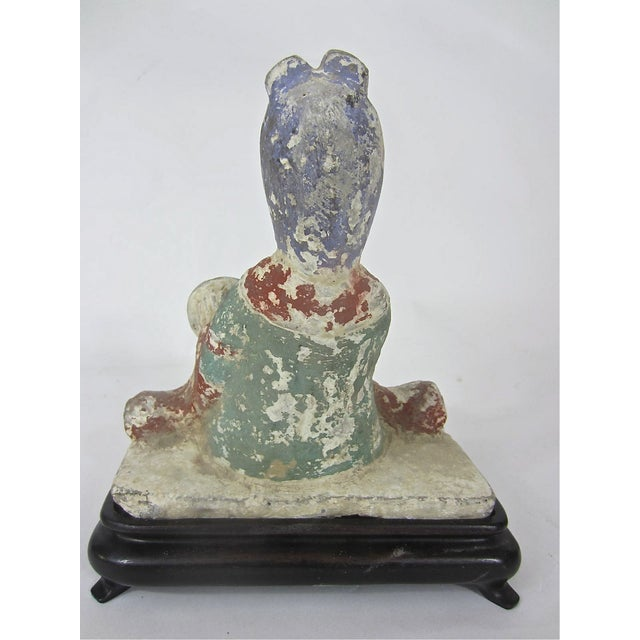 Chinese Tang Dynasty Pottery Figure of a Musician - Image 5 of 6