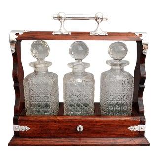 Antique Liquor Tantalus, Lock & Key
