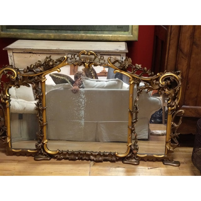 Image of Italian Carved Gold Leaf Mirror