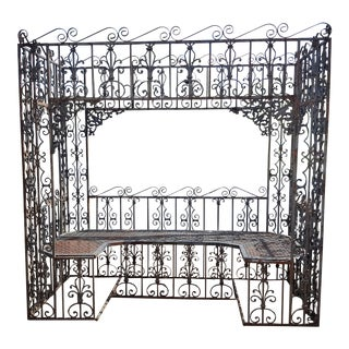 Wrought Iron Bench Structure
