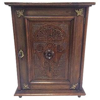 Antique 1880 Petite Belgian Hanging Cupboard Box