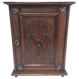 Antique 1880 Petite Belgian Hanging Cupboard Box