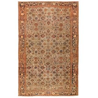Antique Oversize Persian Malayer Sarouk Carpet