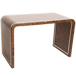 Mid-Century Modern Coconut & Bone Desk