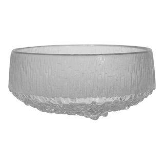 1960s Iittala Thule Footed Crystal Bowl