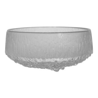 1960s Iittala Thule Footed Crystal Bowl