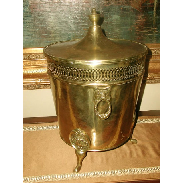English Early 1900's Brass Coal Hod - Image 8 of 10