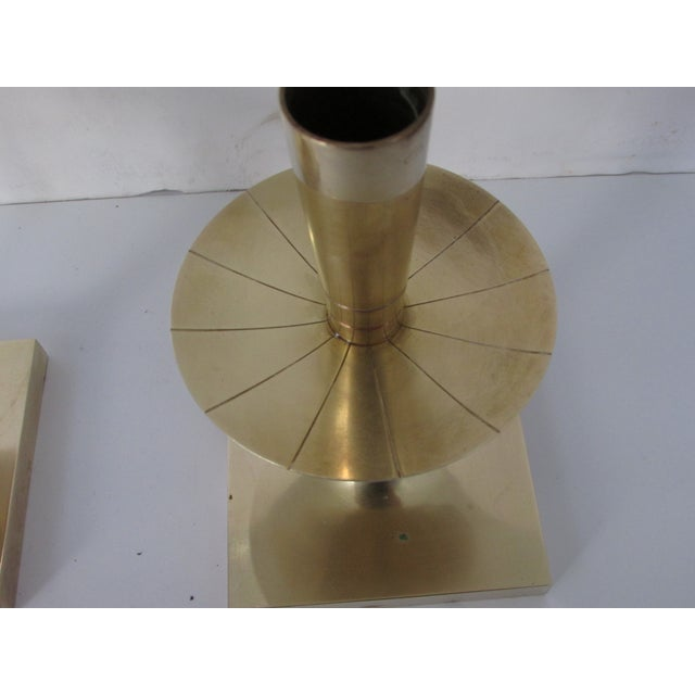 Tommi Parzinger Brass Candlesticks - Pair - Image 4 of 4