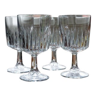 Libbey DuraTuff Winchester Wine Glass Crystal Goblet - Set of 4