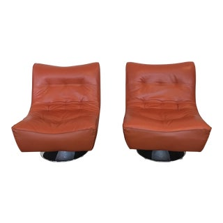 Mid-Century Modern Style Swivel Nest Chairs - A Pair