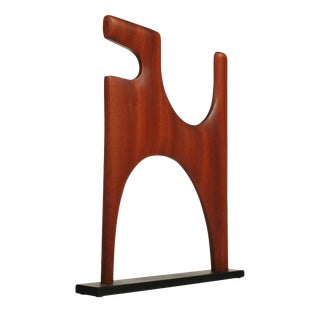 DRH16 Modern Dog Wood Sculpture