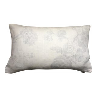 "Brunschwig Et Fils Pale Grey & Ivory Pillow Case - 14"" X 24"""