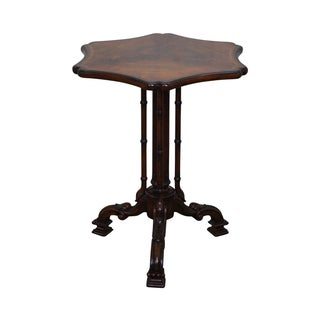 Maitland Smith Style Flame Mahogany Regency Side Table