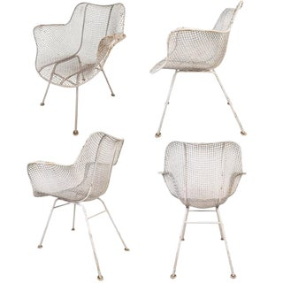 Russell Woodard Mid-Century Modern Sculptura Patio Chairs - Set of 4
