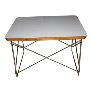 Eames Wire Table-Low in White Laminate