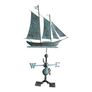 Distressed Weathervane of a Boat