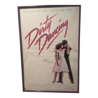 "Autographed Patrick Swayze ""Dirty Dancing"" Poster"