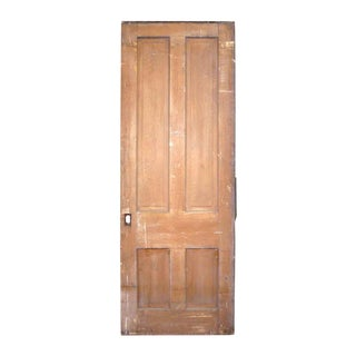Antique Primitive Four Panel Door
