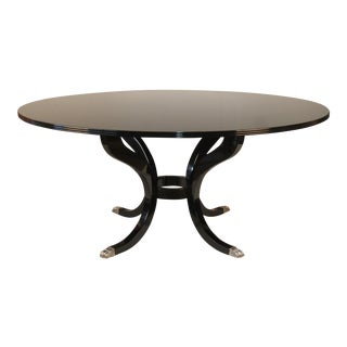 Custom Black Lacquer Dining Table