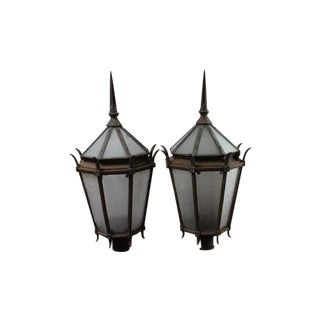 Vintage Cast Iron Street Lamps - A Pair