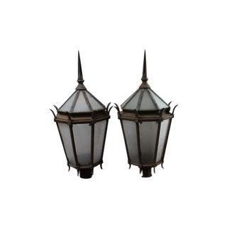 Vintage Cast Iron Street Lamps - A Pair