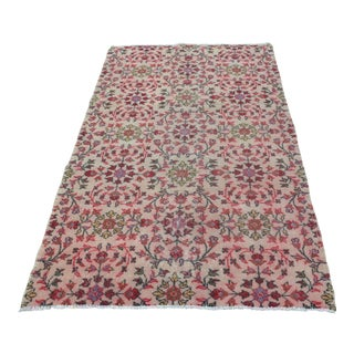 Turkish Floral Decorative Rug - 3′11″ × 6′9″