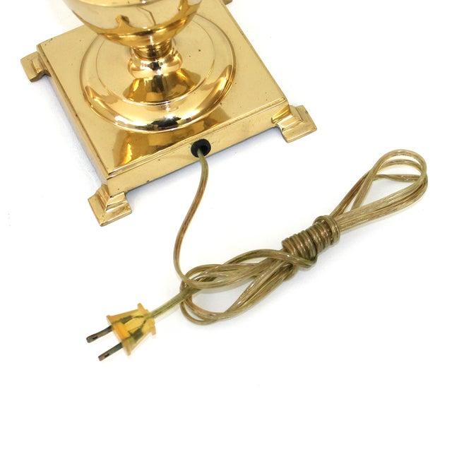 Image of Hollywood Regency Brass Pineapple Desk Lamp