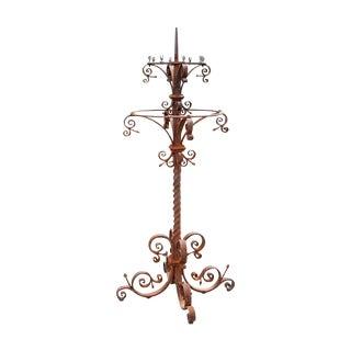 19th Century Wrought Iron Candelabra
