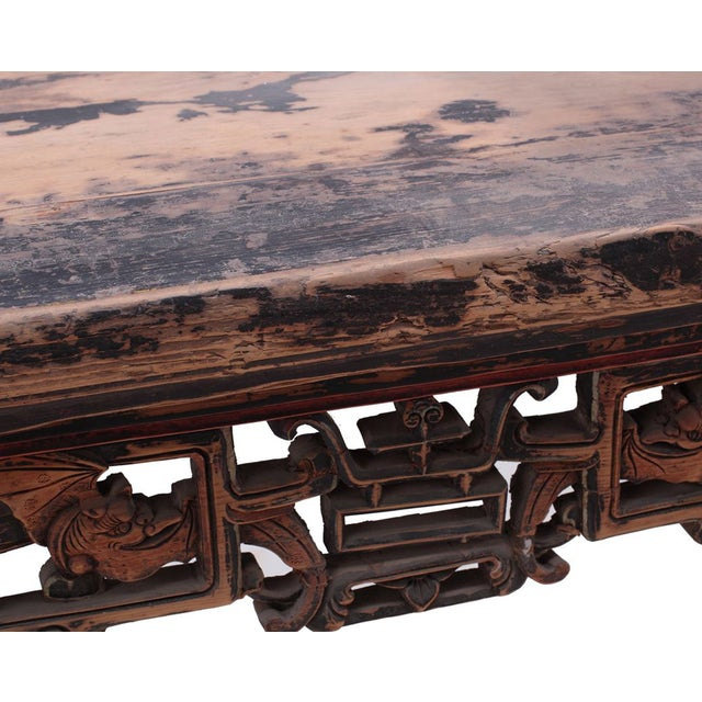 Chinese Rustic Brown Vintage Wood Side Altar Table - Image 2 of 7