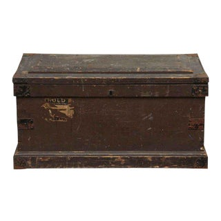 Large Wooden Brown Trunk