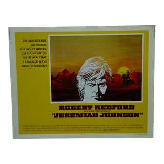 "Vintage Movie Poster ""Jeremiah Johnson"" by Robert Redford 1972"