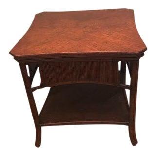 Ficks Reed Rattan Side Table
