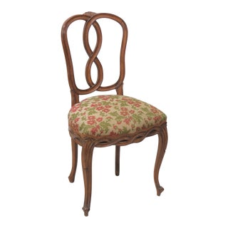 Louis XV Style Walnut Carved Side Chair