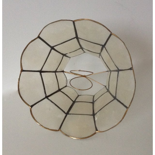 1960's Capiz Shell Scalloped Clip-On Shade - Image 5 of 7