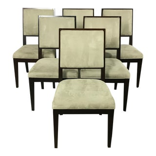 Crate & Barrel Modern Dining Chairs - Set of 6