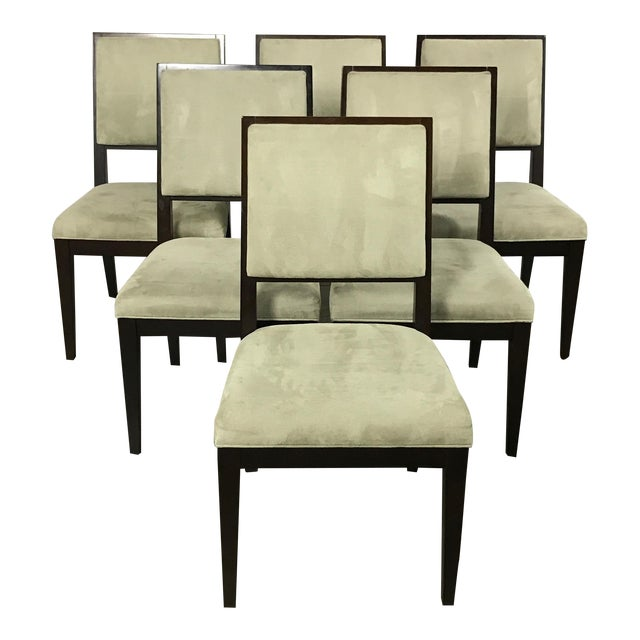 Crate barrel modern dining chairs set of 6 chairish for Modern dining chairs ireland