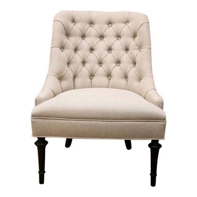 Mid-Century Slipper Chairs, Pair - Image 1 of 8