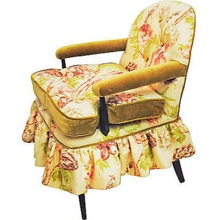 Vintage Floral Bedroom Chair