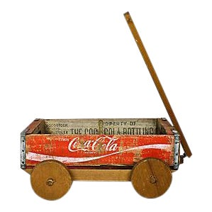 Coca Cola Crate Wagon Planter