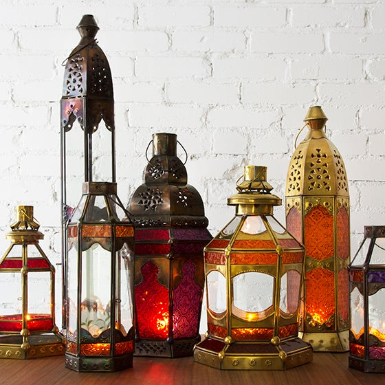 Moroccan Gem Candleholder Lantern - Image 2 of 2