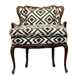 French Bergere Wing Chair With Down Cushion