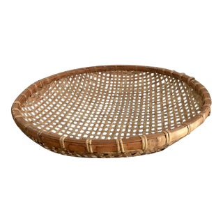 Rattan Trim Decorative Basket