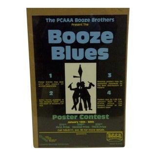 "1980 Vintage ""Booze Blues"" Concert Poster"