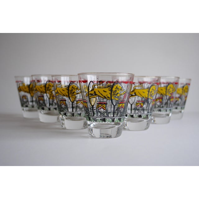 Vintage Circus Theme Whiskey Glasses - Set of 8 - Image 3 of 11