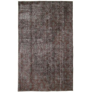 Muted Red-Violet Overdyed Carpet | 3'9 x 6' Rug