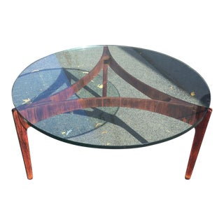 Mid Century Danish Modern Coffee Table Designed by Sven Ellekaer Rosewood