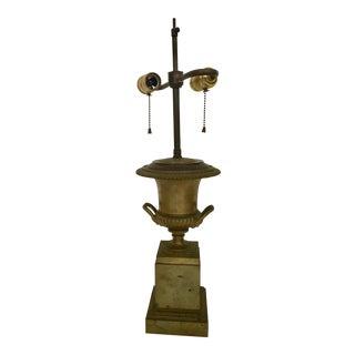 Neoclassical Style Bronze Lamp