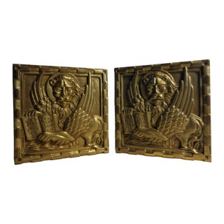 Solid Brass Venetian Bookends - Pair