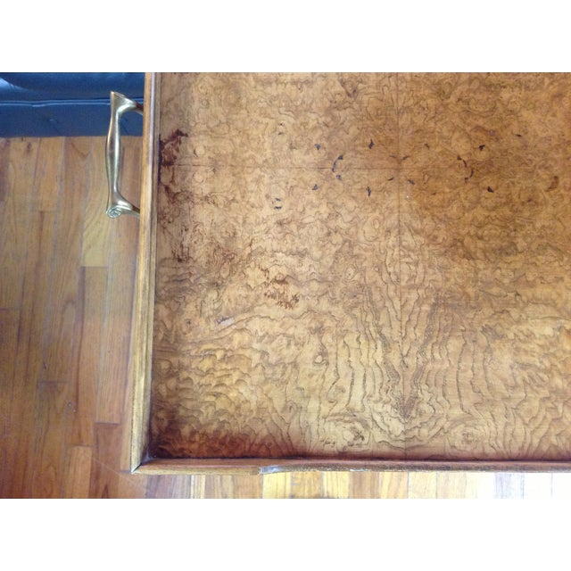 Image of Drexel Burled Convertible Bar to Coffee Table